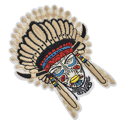 Vintage Indian Chief Iron on Patches Embroidery Badge Applique DIY Coat Pants