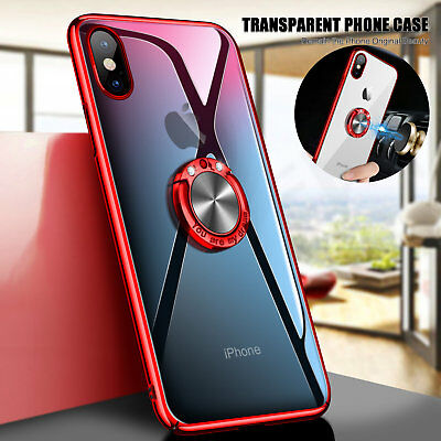 For iPhone X 7 8 Plus 6S Ring Magnetic Shockproof Rugged Hybrid Phone Case Cover