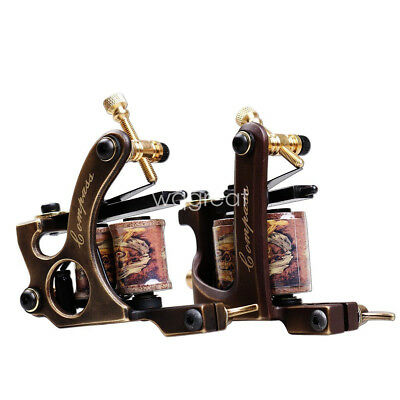 2 pcs Brass Tattoo Machine Straight Shader Circle Liner