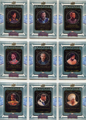 Marvel Black Panther Language of People Complete 9 Card Chase Set LOTP1 - LOTP9