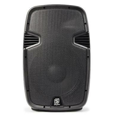 "SKYTEC ALTAVOZ ACTIVO BAFLE 2 VIAS 38cm (15"") 800W CAJA ABS MP3 USB SD BLUETOOTH"