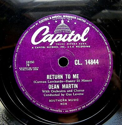 0873/ DEAN MARTIN- Return to me- Forgetting you -Schellack