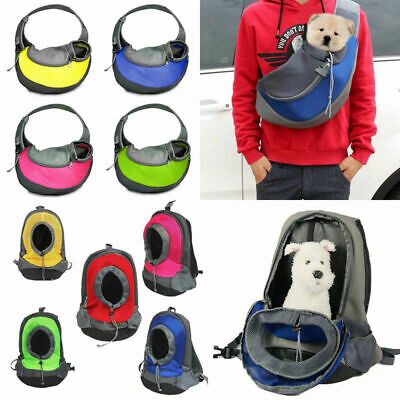 Portable Pet Carrier Dog Puppy Backpack Soft Shoulder Sided Front Tote Travel
