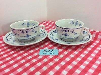 Lovely Vintage Pair Of Cup And Saucers Made By Furnivals. c1905 -1913