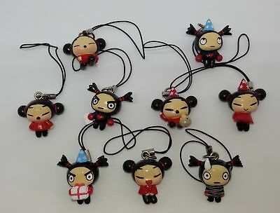 Pucca Lot 10 Charms Figurines Panini