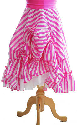 DRAG/PANTO DAME/Widow Twanky/Ugly Sister RUCHED STRIPED SKIRT All Men's Sizes