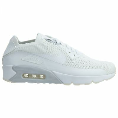 NIKE AIR MAX 90 Ultra 2.0 Flyknit Mens 875943 101 White Running Shoes Size 11