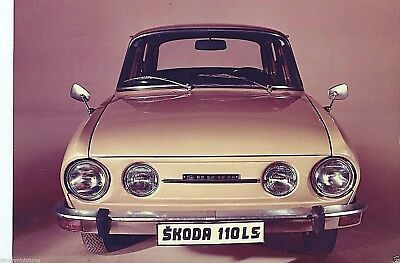Skoda 110 LS Original Press Photograph Foto Circa 1971 Excellent Condition