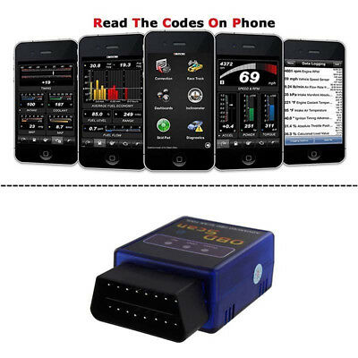 ELM327 OBD2 OBDII Car Diagnostic Bluetooth Scanner Torque Auto Scan for Android#