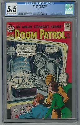 Doom Patrol #86 CGC 5.5 (OW-W) 1st appearance Brotherhood of Evil.