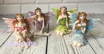 NEW FAIRY FIGURES - SET OF 4 SMALL 6cm FAIRY WORLD FIGURINES GREAT GIFT