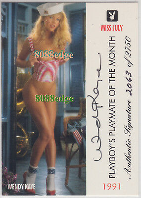 "1996 Playmate Authentic Auto #114: Wendy Kaye #2063/2750 Autograph ""miss July"""