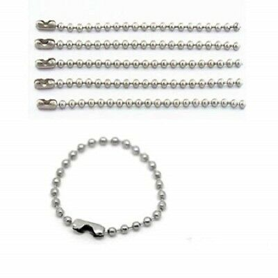 Craft Projects Key Chain Tags 100 Pieces Ball Bead Metal Chain Mixed Color Bead Metal Chain Necklace with Connectors for Jewelry Findings