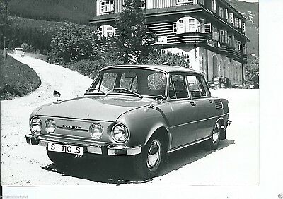 Skoda 110 LS Original Press Photograph Circa 1971 Excellent Condition Foto