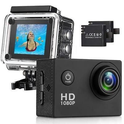 Sasrl Action Camera , 12MP 1080P 2 Inch LCD Screen , Waterproof Sports Cam