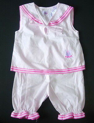 BABY GIRL OUTFIT Pale Pink Top Shorts Bloomers Cotton Night Wear Pyjama Clothing