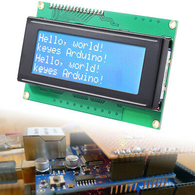 New Blue IIC I2C TWI 2004 20x4 Serial LCD Module Display for Arduino TE116
