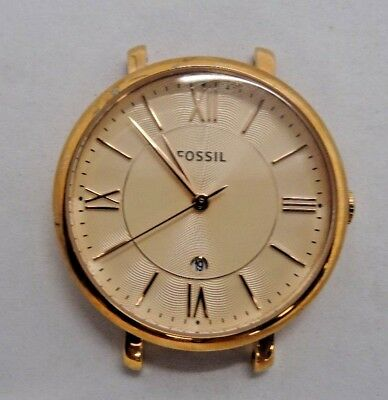 4ee3ccea6 Fossil ES3707 Women's Rose Gold Tone Analog Watch Case With Engraving Used