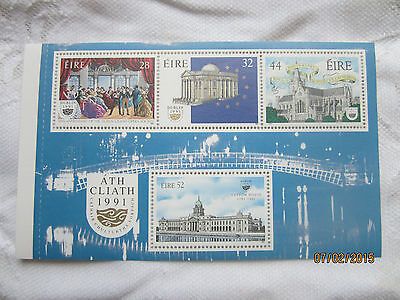IRELAND 1991 MINT NEVER HINGED BOOKLET PLANE SG 800b CITY CULTURE. 18.SH04