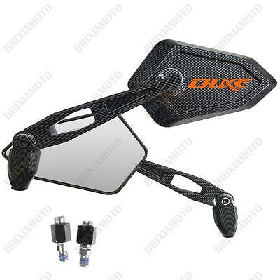 Spiegel Street Carbon-Look Logo Orange Ktm Duke 640 690 125 200 390