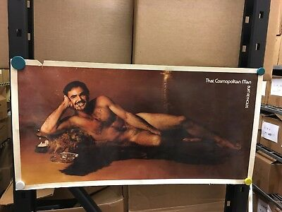 VINTAGE Burt REYNOLDS That COSMOPOLITAN Man Rectangular CORNER Lettering Design