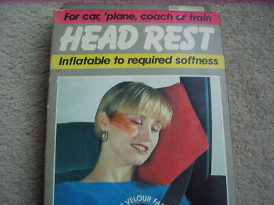 Job lot of 5 Inflatable head rests for car, plane, coach or train.