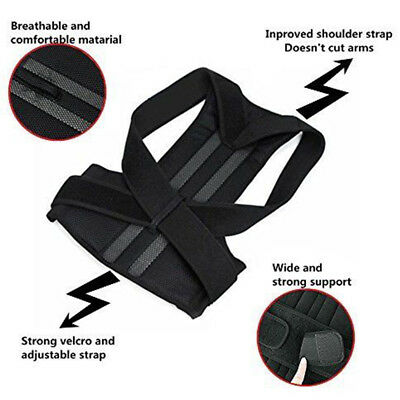 Adjustable Neoprene Posture Corrector Support Magnetic Back Shoulder Brace Belt