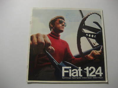 1969 Fiat 124 Sales Brochure...Spider, Coupe, 4-Door Sedan