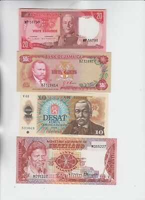 World Currency lot Group of 4 uncirculated notes