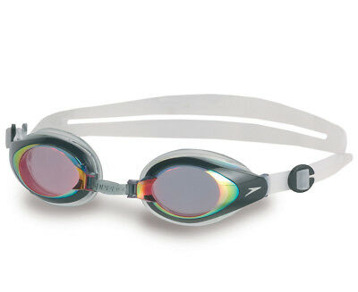 Speedo Mariner Mirror Goggles - Red/Clear
