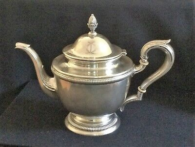 International Silver STERLING Teapot with attached Lid HOLLOWARE elegant INSC343