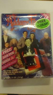 Lot of 4 UNOPENED Addams Family Cereal Boxes with Flashlights Ralston 1991