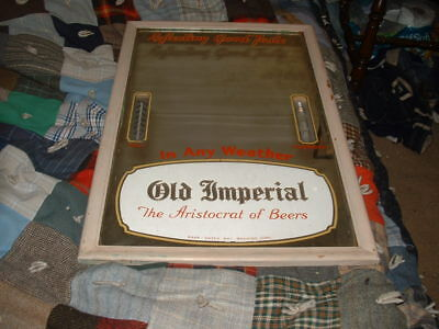 RARE Vintage OLD IMPERIAL BEER Mirror RAHR Green Bay Brewing Corp IN ANY WEATHER