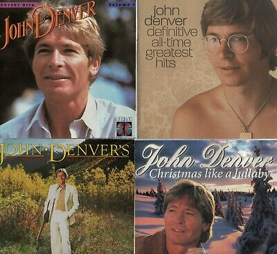 2 John Denver CD's Christmas Like A Lullaby & Definitive All-Time Greatest Hits