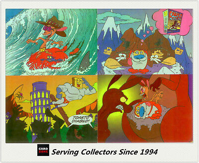 1995 Australia Dynamic REN &STIMPY Trading Card Tech-Chrome Card Set(18)-Quality