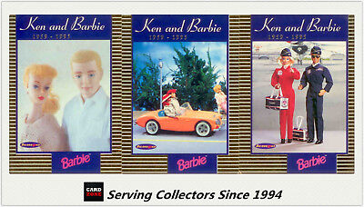 1996 Australia Tempo 36 Years Of Barbie Trading Cards Ken & Barbie Card Set(3)