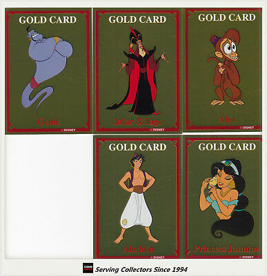 Australia Dynamic Aladdin Trading Card Series 5-Gold Card Subset full set (5)
