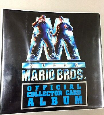 Australia Dynamic Super Mario Bros Trading Card Official Album (with pages) RARE