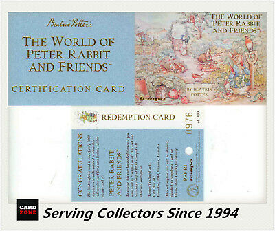 Beatrix Potter ( Tempo) The World Of Peter Rabbit & Friends Redemption Card (3)