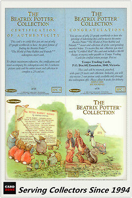 Tempo Australia-The Beatrix Potter Card Collection Sample CardSet(19)-No Pop-Up
