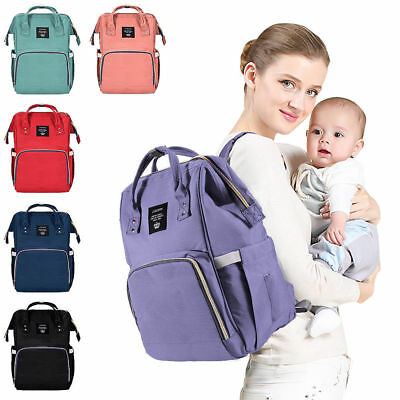 Waterproof Large Mummy Nappy Diaper Bag Baby Travel Changing Nursing Backpack US