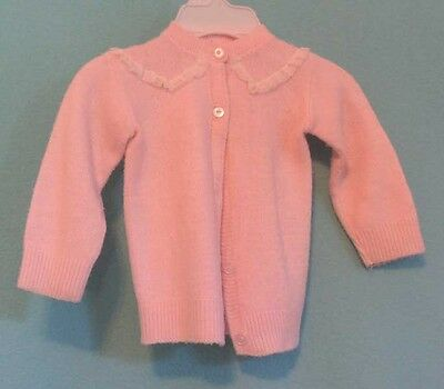 Vintage Child's Cardigan Sweater in Pink - Great for your Larger Dolls