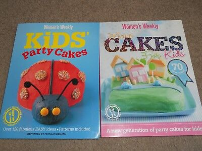 2 x Australian Women's Weekly Kids Birthday Cakes + More Cakes For Kids - Ex Con