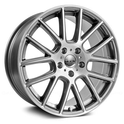 Fiat 500 Abarth Monza Wheels Gunmetal Set Of 4 15x6 5