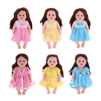 "20"" Realistic Lifelike Large Size Soft Bodied Baby Doll in Dress Girls Boys Toys"