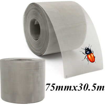 75mmx30.5m STAINLESS STEEL SOFFIT VENT INSECT FLY BUG MESH ROLLS - Pest Proof
