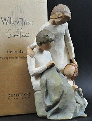 Willow Tree Generations NEU Susan Lordi Demdaco Familie Mutter Vater Kind 8AW1