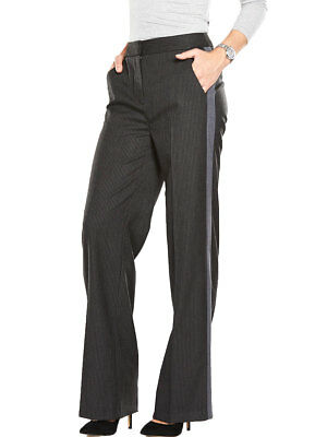 V By Very Split Front Pinstripe Trousers