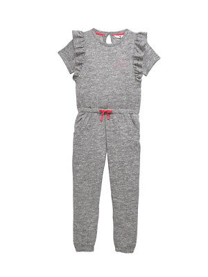 V by Very Ruffle Detail Jumpsuit in Grey Size 13-14 Years