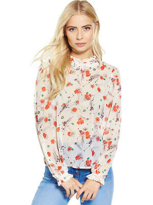 V by Very Floral Print High Neck Blouse